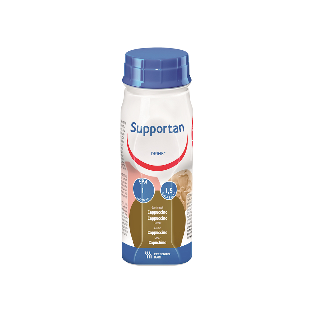 supportan cappuccino drink